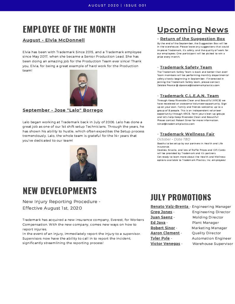 Trademark Gazette - (2) August