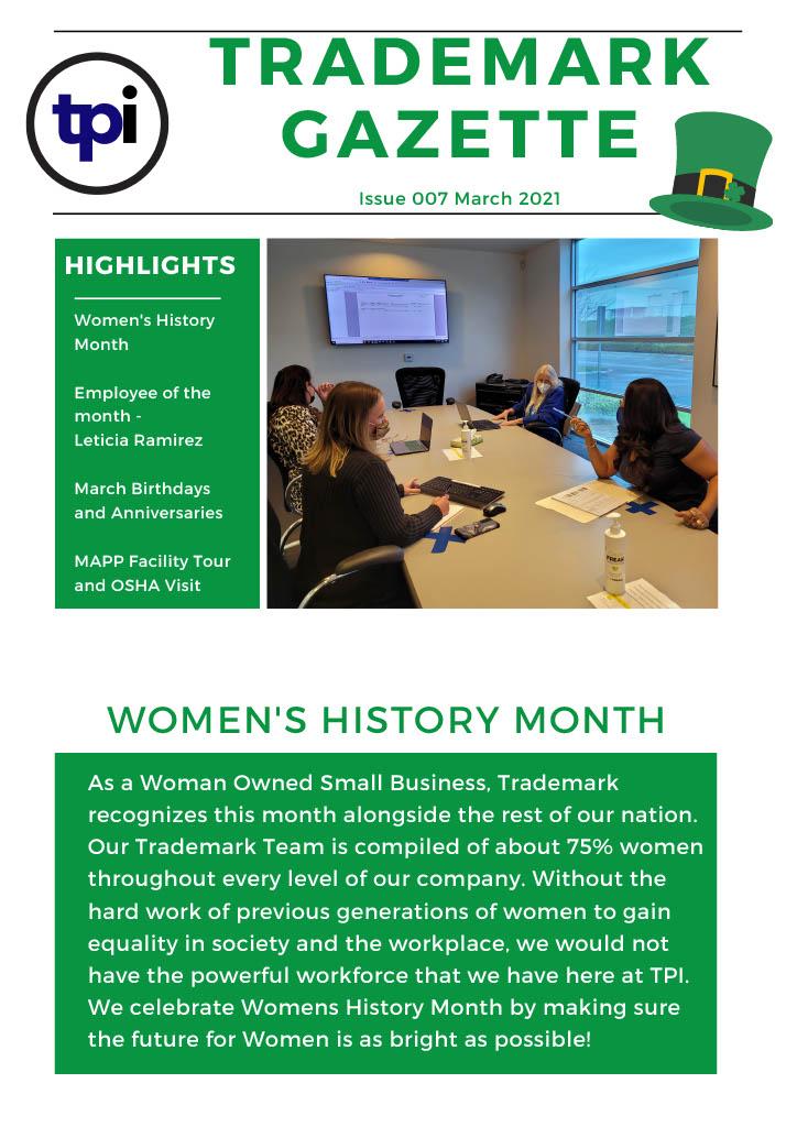 Trademark Gazette - March 1