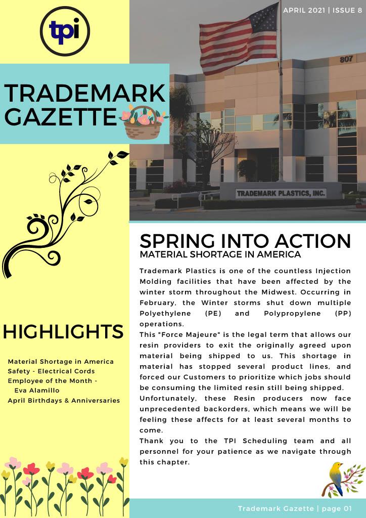 Trademark Gazette - April 1st
