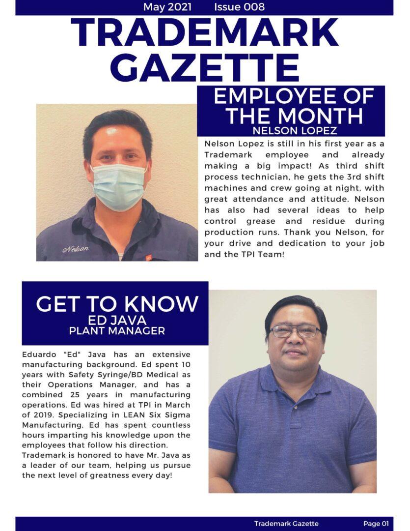 Trademark Gazette - May 1st