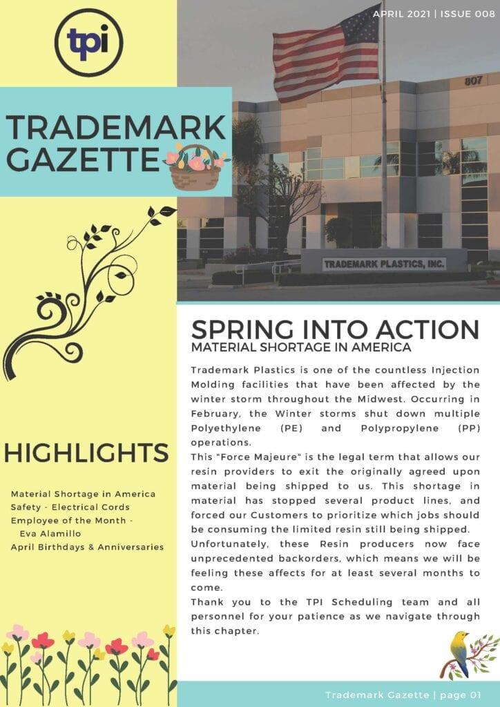 Trademark Gazette - April 1