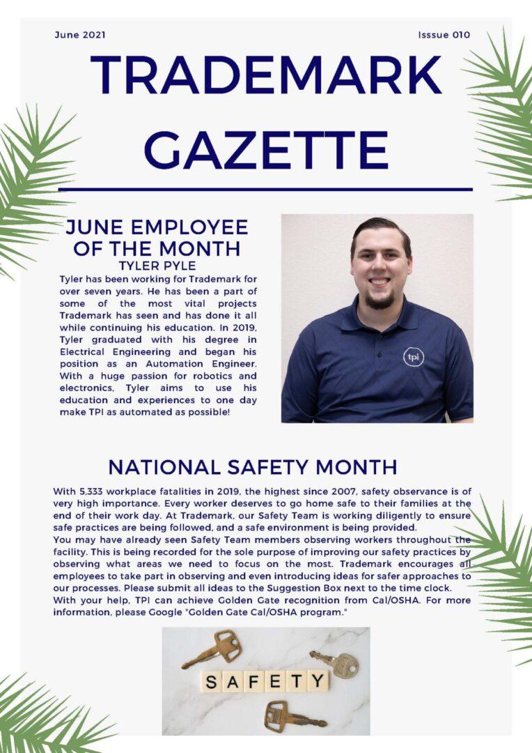 Trademark Gazette - June 1