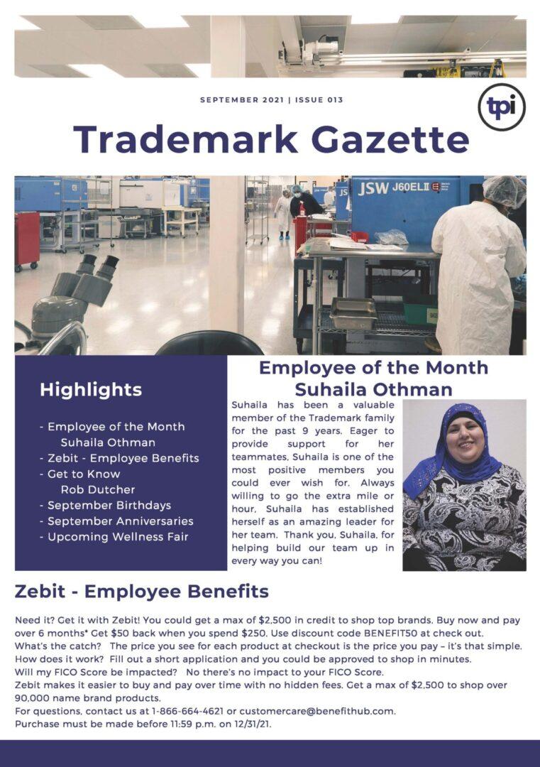 Trademark Gazette - September 1