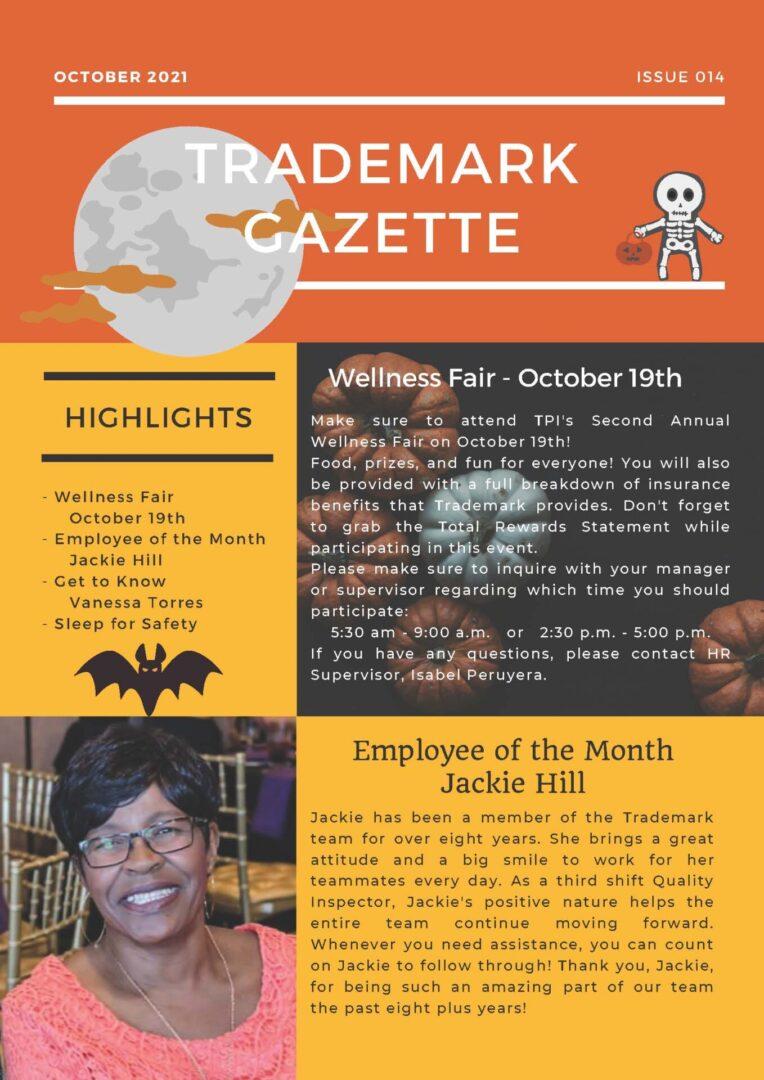 Trademark Gazette - October 1